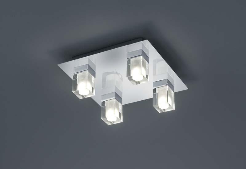 Plafonnier Salle De Bain LED Chrome/verre Clair   Javillier Luminaires  77400 Saint Thibault Des Vignes